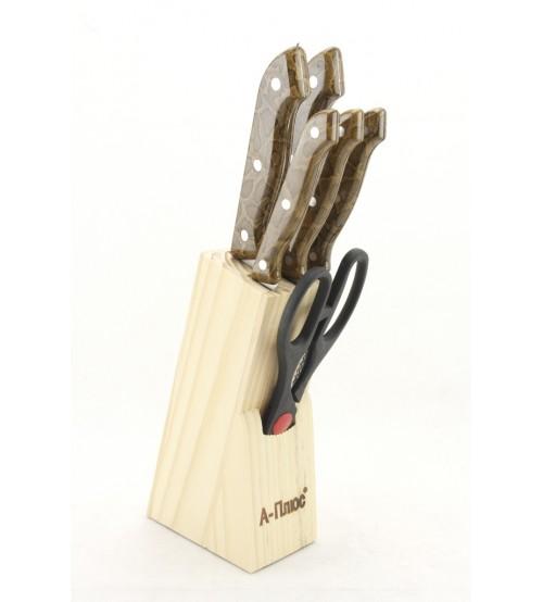 1005 Набор ножей (7 предметов) Коричневый