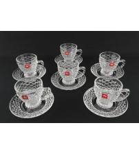 106 YJSC Сервиз чайный стекло (6 предметов)