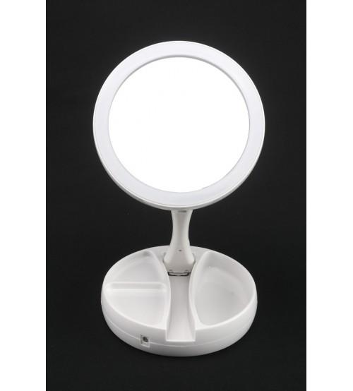 001 M Зеркало косметическое c подсветкой (USB)