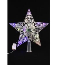 21 CL Звезда наконечник для елки новогодняя LED