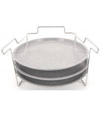 Набор противней 3 шт. для пиццы с подставкой карбон/сталь 1150