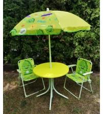 6005 Стол складной для пикника алюминиевый /2 кресла/зонтик. ДЕТСКИЙ