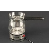 2125 Электрическая кофеварка 0,6 л.дисковый 600 Вт стекло