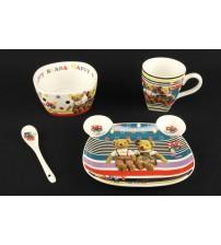 401 CS Детский набор посуды из керамики 4 шт