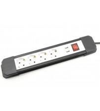 1694 E/3 Удлинитель на 4 розетки + USB