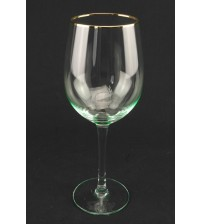 9045 Бокал для вина с золотым ободом 460 мл